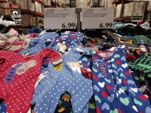 Shopping at Costco for baby items