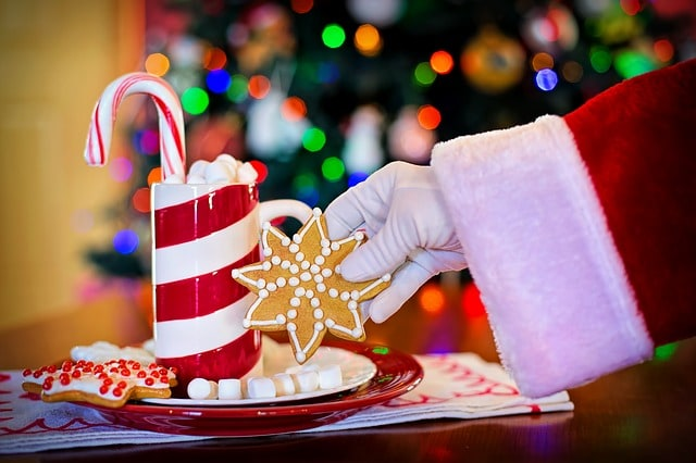 Christmas Traditions for Children: Leave out milk and cookies for Santa